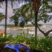 View into estuary/Playa Tortugas from Casa Sonrisa