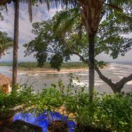 View into estuary/Playa Tortugas from Casa Sonrisa