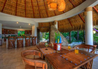 Open living under a palapa