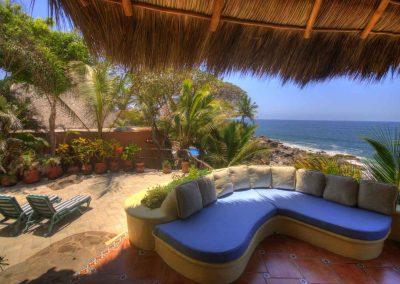 Terrace Voz del Mar, vacation rental Mexico
