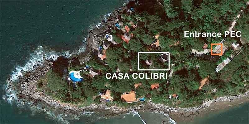 Ubicación del mapa de Google Casa Colibri
