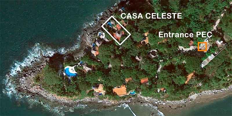 Mapas de Google con la ubicación de Casa Celeste