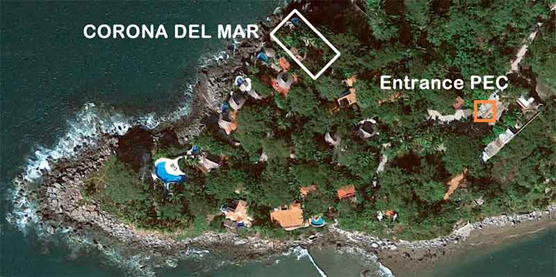 Location Corona del Mar on google maps