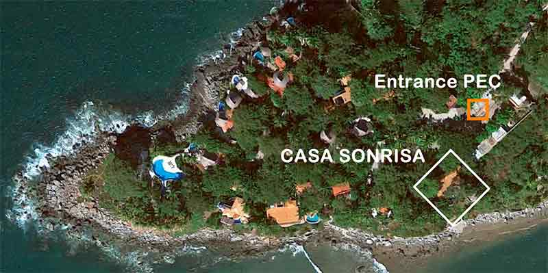 Location Casa Sonrisa on google maps