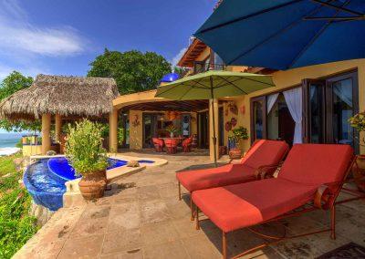 Oceanfront villa rental Lazuli