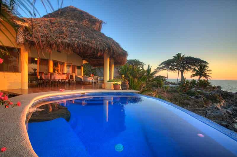 Oceanfront villa rental