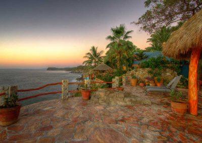 Terrace Casa Paraiso sunset
