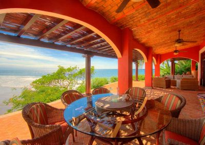 Dining area vacation rental Villa Custodio