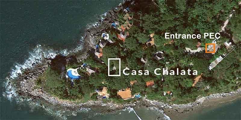 Google map with location Casa Chalata